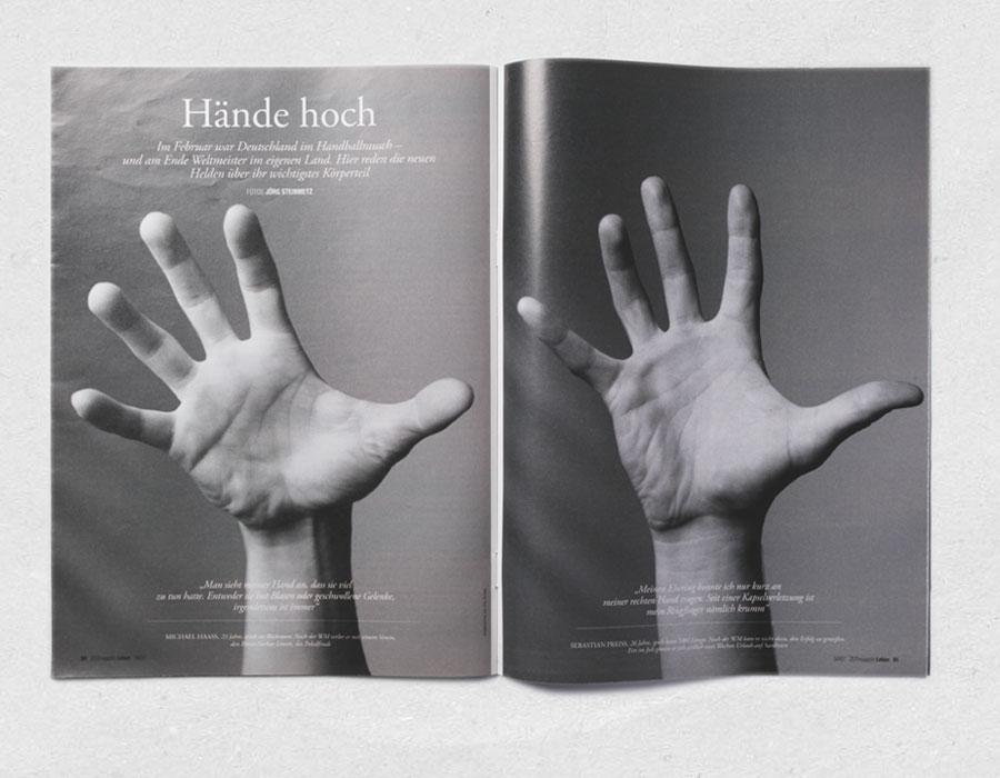 Hände der Handball-Weltmeister 2007 · ZEIT-Magazin