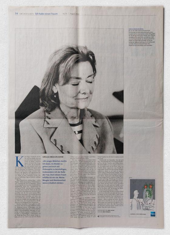 Ursula Engelen-Käfer · »Ich habe einen Traum« ·ZEIT LEBEN
